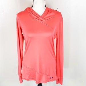 Under Armour Hooded Pull Over Long Sleeve Pink Top